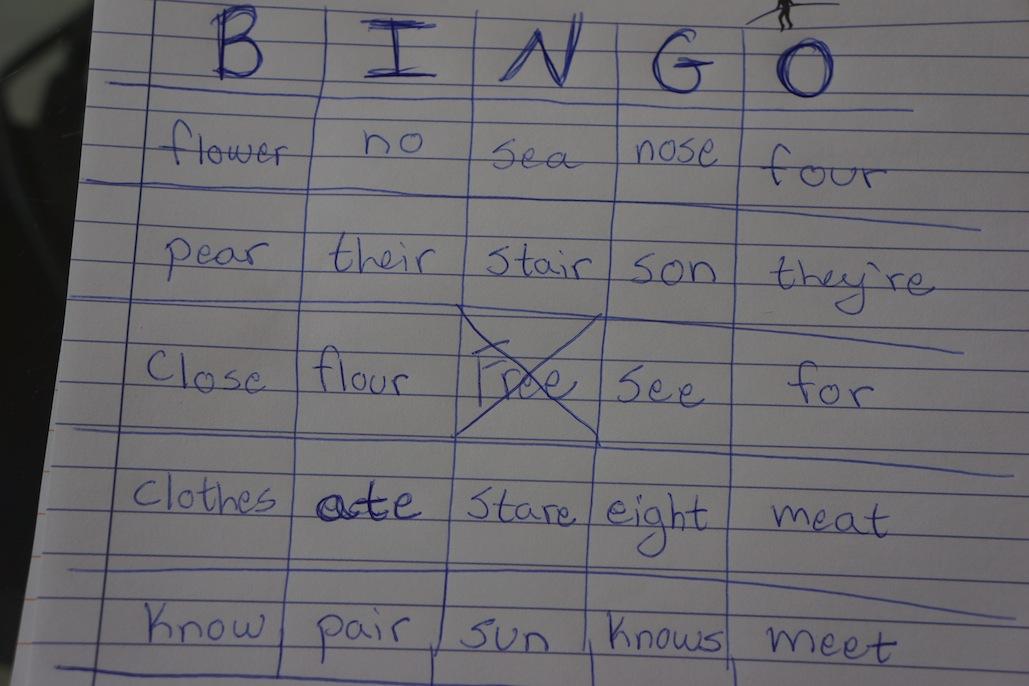 Homonym Bingo Wrecking Routine