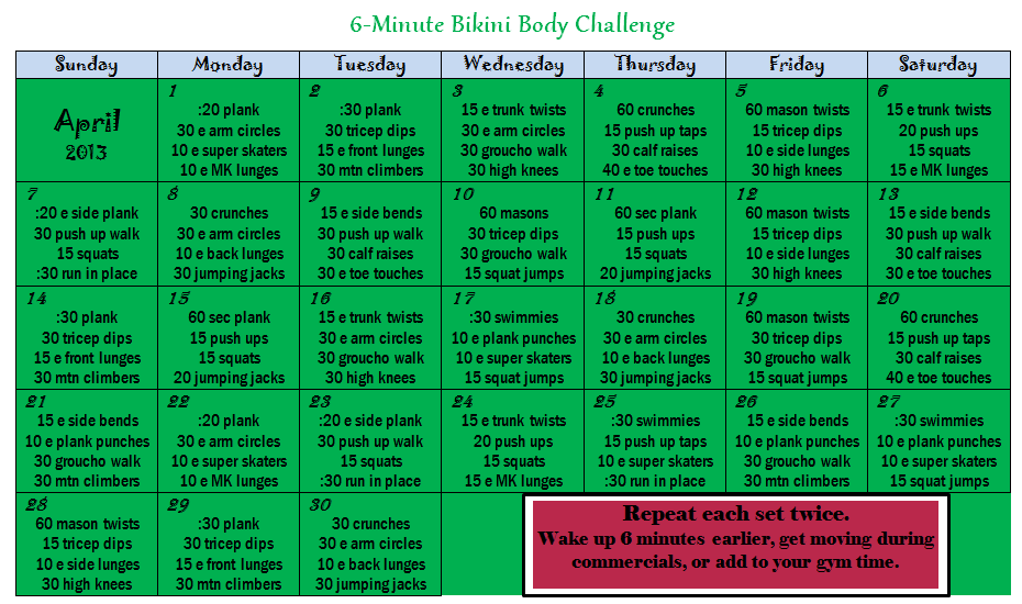 Fitkini Body Challenge Book