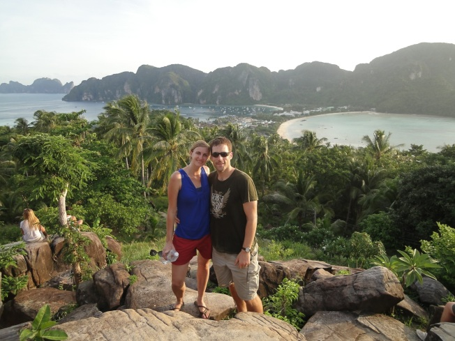 Hiked to the Koh Phi Phi view point. Sweaty, but worth it.